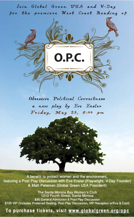 Eve Ensler's O.P.C. Invitation