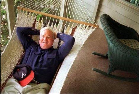 Pat Conroy relaxing