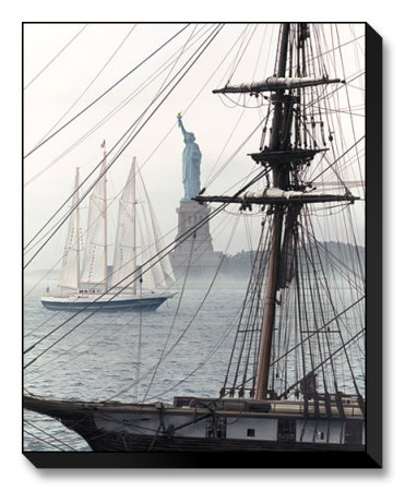 Tall ships in NYC's harbor