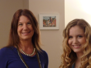 Susan Wiggs and Elizabeth Wiggs Mass in KING5's green room