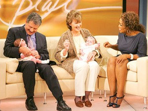 Gerald and Christine with Twins on Oprah