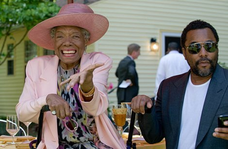 Maya Angelou and Lee Daniels