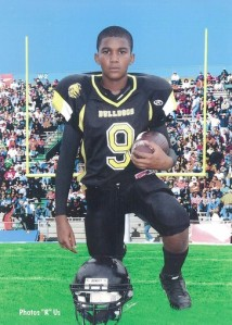 Trayvon Martin's football portrait