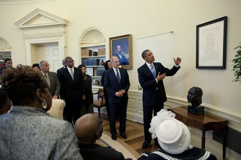 Emancipation Proclamation in the Oval Office