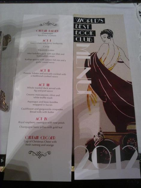 Great Gatsby menu