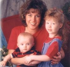 Crystal Judson Brame with her children Haley and David