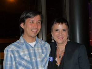 David Hsieh (Elliott Bay Book Company) and Eve Ensler