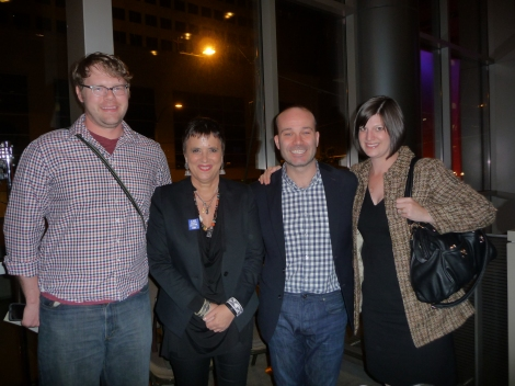 Nathan Engebretson (PP), Eve Ensler and Tony (V-Day), and Kirsten Dees (PP)