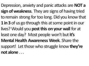 Mental Health Awareness Week is the first week in October
