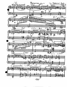 """""""Pannonica"""" score"""