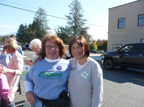 Anne Caroline with Suzan DelBene after a campaign parade in 2012
