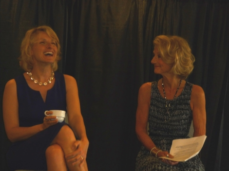 Elizabeth Gilbert and Jean Enersen at the VIP Reception
