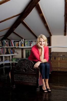 Elizabeth Gilbert at her home in Frenchtown, NJ