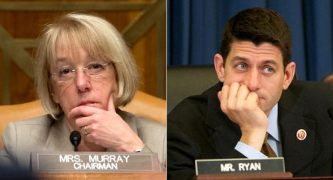 Sen. Patty Murray (D-WA) and Rep. Paul Ryan (R-WI)