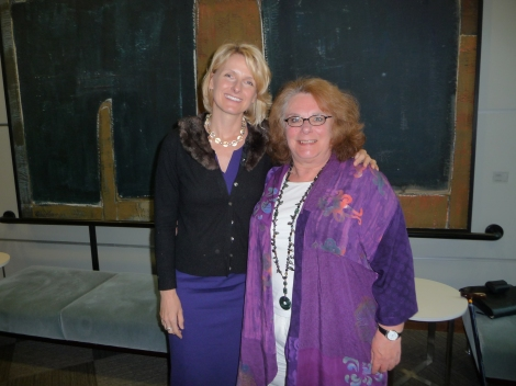 Elizabeth Gilbert with Anne Caroline after the luncheon