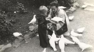 Pat Conroy with his mother Peg in 1948