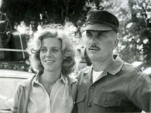 "Blythe Danner [Lillian/Peg] and Robert Duvall [""Bull"" Meechum/Don Conroy] in The Great Santini movie"