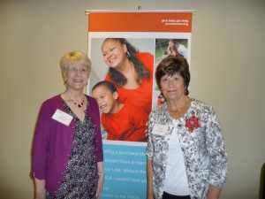 Susan Mayer and Judy Cromwell of the Mill Creek Women's Club