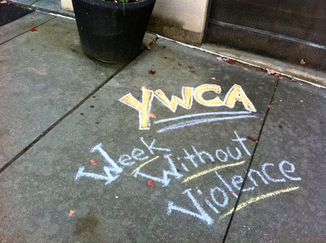 YWCA WWVSidewalk