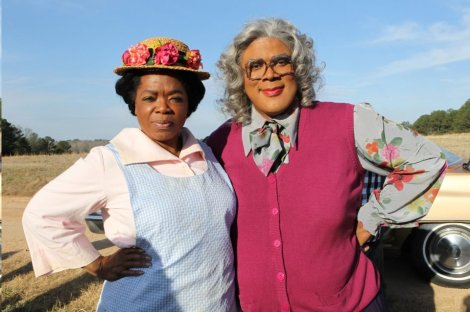 "Oprah and Madea (Tyler Perry) in an ""Oh,  hell to the NO!"" moment"