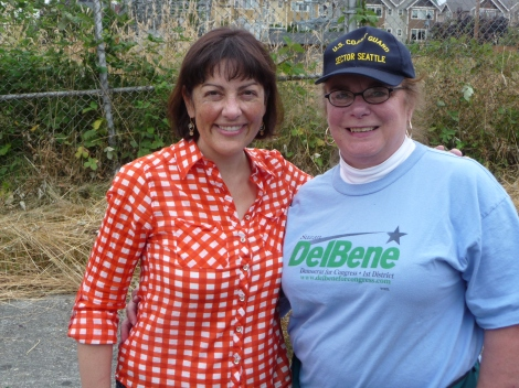 Rep. Suzan DelBene and me in July, 2013