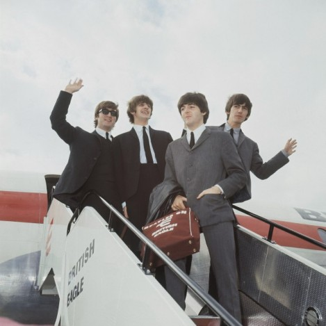 Beatles arriving in NYC.