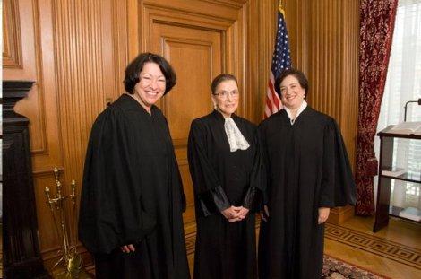 Justices Sotomayor, Ginsburg, and Kagan