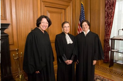 Justices Sotomayor, Ginsburg, and Kagan