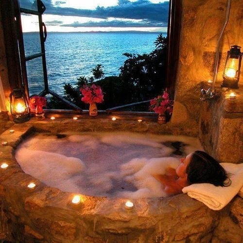 Ptsd antidote dr teals epsom salts bubble bath anne for Dreams about bathrooms