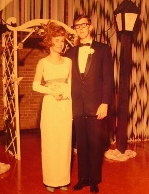 Stan Elliott and me at the prom in 1964