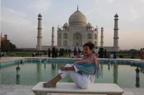 Sarah-Kate Lynch at the Taj Mahal