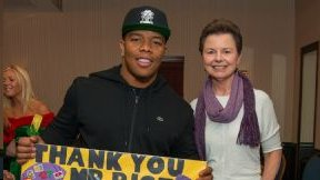 Ray Rice with Sandi Timmons