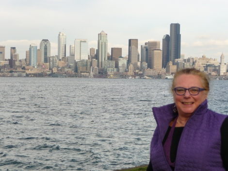 Anne Caroline Drake and Seattle's skyline