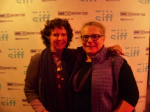 Kit Gruell and Anne Caroline Drake at the private HBO screening of Private Violence at the SIFF in Seattle
