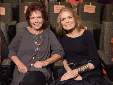 Kit Gruelle with executive producer Gloria Steinem