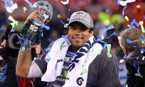 Russell Wilson, quarterback for the Super Bowl-winning Seattle Seahawks