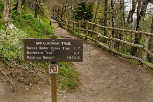 Today's start of the Appalachian Trail