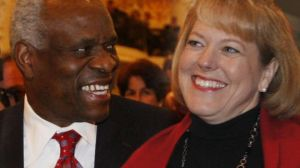 U.S. Supreme Court Justice Clarence Thomas and his wife Virginia