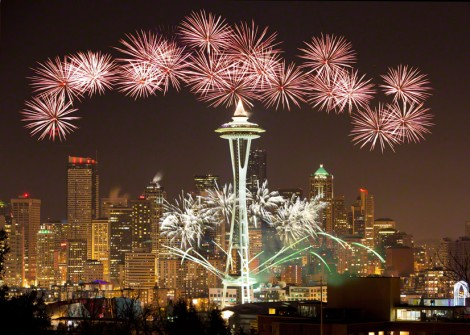 Fireworks in Seattle