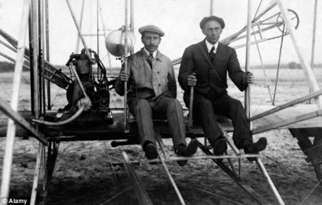 Wright Brothers on a rare flight together