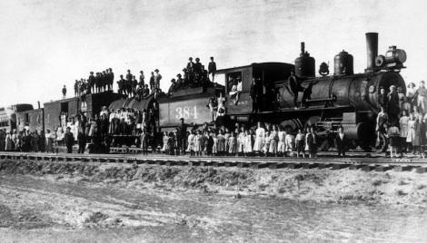 The first orphan train in 1850