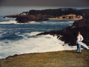 Anne Caroline Drake at Little Whale Cove, OR, 1992