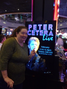 Shannon Wilson before the Peter Cetera concert.