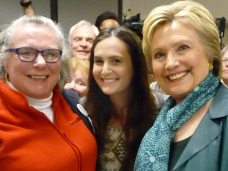 Anne Caroline Drake with Hillary Clinton in Everett, WA