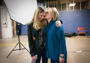 Chelsea and Hillary Rodham Clinton