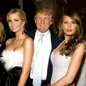 Ivanka, Donald, and Melania Trump