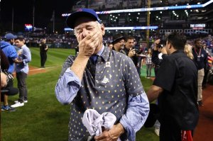 Bill Murray's reaction to the Chicago Cubs World Series victory.